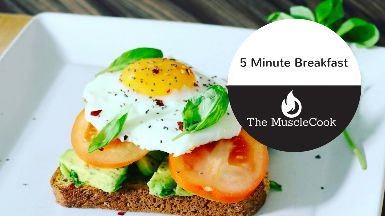 5 Minute Breakfast with Avocado and Eggs