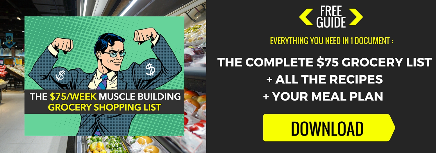 $75 muscle shopping grocery list