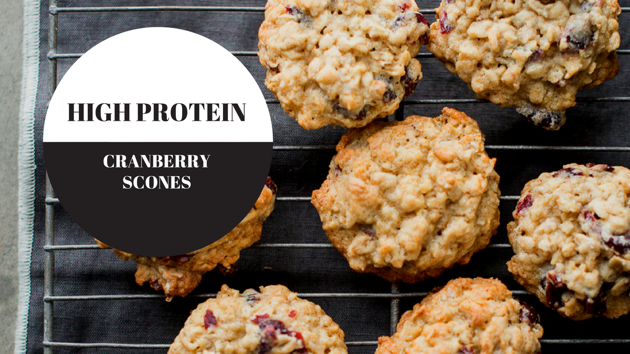 High Protein Cranberry Scones